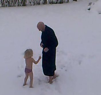 Tur i sneen som en rigtig viking
